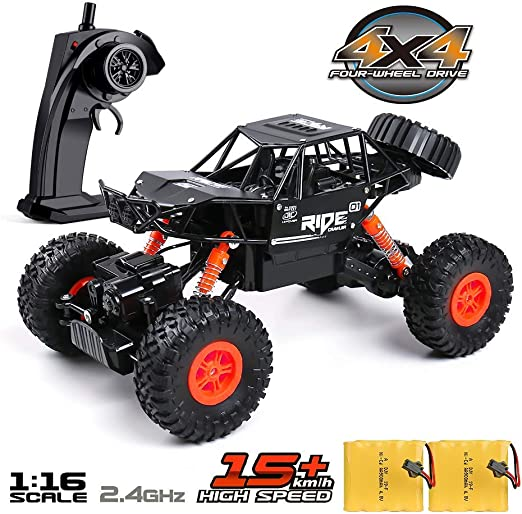 Remote Control Car for Boys, 4X4 Off Road RC Truck Crawler
