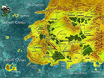 Amazon.com: Best Print Store - Wheel Of Time Vintage Map Poster ...
