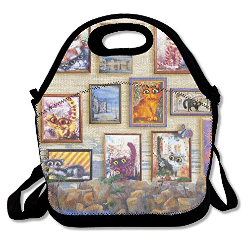 Richard Lyons Cats Gallery Water Repellent Outing Lunch (Gallery Lunch Tote)