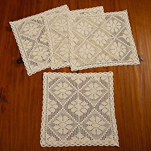 Violet Linen Stars Crochet Vintage Design 16