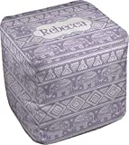RNK Shops Baby Elephant Cube Pouf Ottoman - 13'' (Personalized)