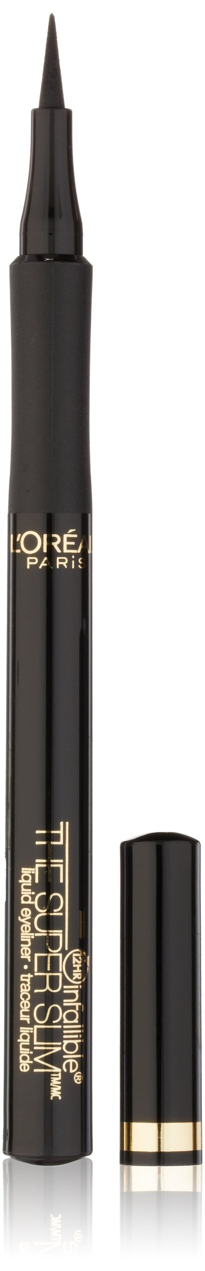 L'Oréal Paris Makeup Infallible Super Slim Long-Lasting Liquid Eyeliner, Black, 0.034 fl. oz.