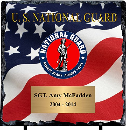 - Personalized National Guard Slate Plaque