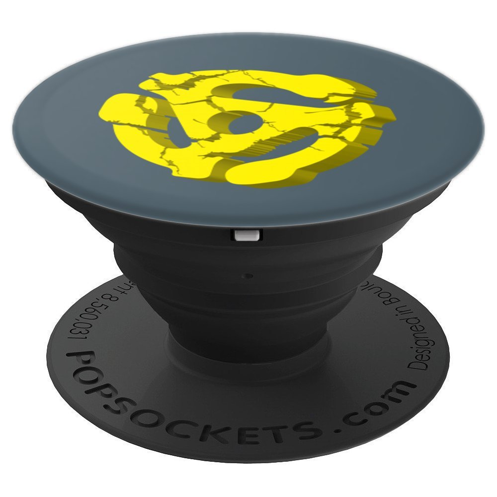 Cool Turntable 45 RPM Adapter Art - For Music Record Nerd - PopSockets Grip and Stand for Phones and Tablets