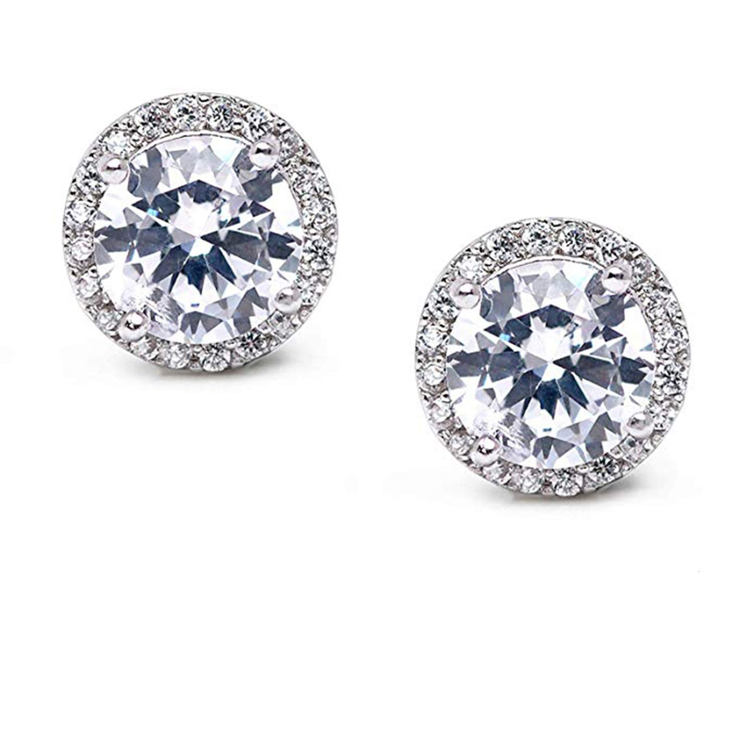 14K Gold Plated Simulated Diamond Studded Earrings For Womens Girls Party Daily Wear Jewellery