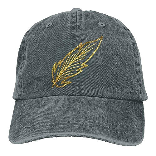 Hat Cowboy Skull Hats Gold For DEFFWB Beautiful Men Cap Women Denim Sport Cowgirl Feather dfxy0wX