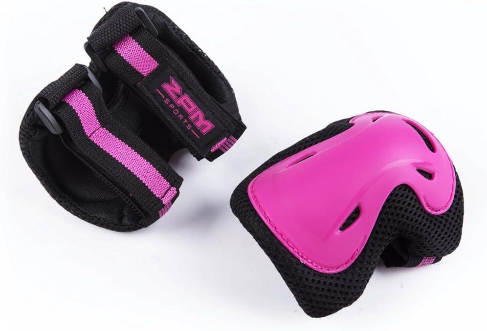 y compris les genouill/ères SULIVES Ensemble d/équipement de protection rose CIRA pour fille patinage /à les coudi/ères et les prot/ège-poignets pour les utilisations multi-sports pour enfants: planche /à roulettes