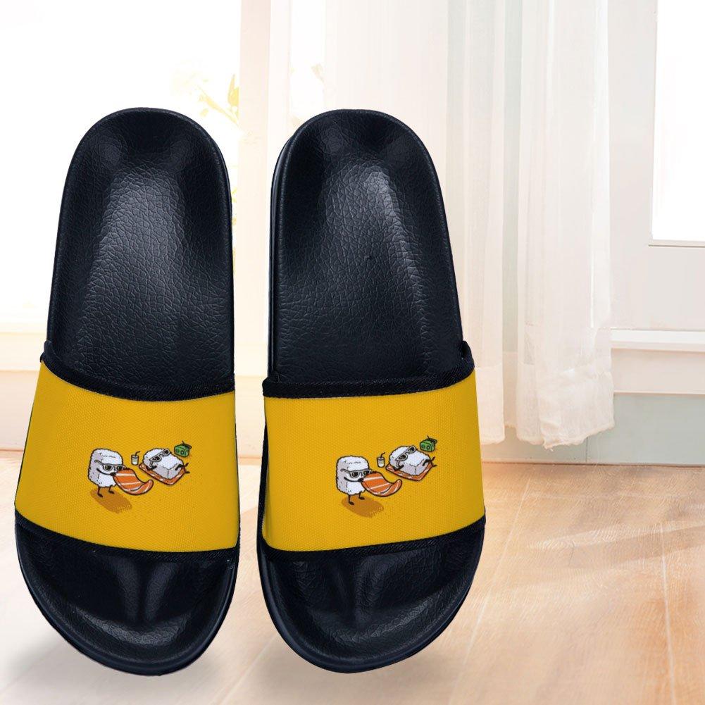 Wilbur Gold Swimming Sandals for Boys Girls Anti-Slip Shower Open Toe Soft Sole Shower Slide Sandal Shoes