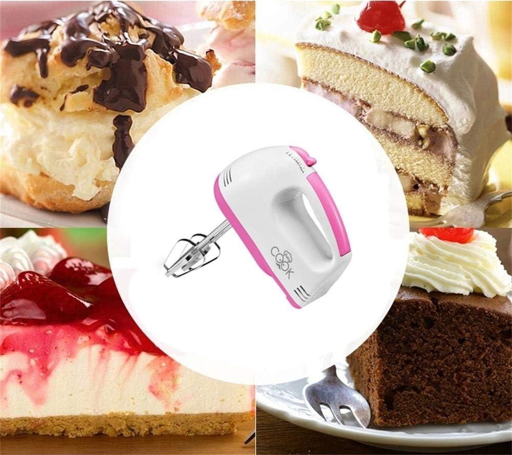 JJLL Batidora de mano compacta eléctrica for batir + mezclar galletas, brownies, pasteles, pasta, batidos, merengues y más, 7 velocidades: Amazon.es: Hogar