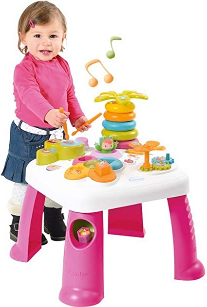 Smoby Table D Activites Cotoons Rose Amazon Fr Bebes