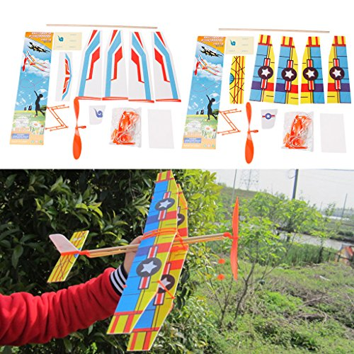 Rubber Band Powered Glider Flying Plane Airplane DIY Assembly Model Teenager - Rubber Band Powered Airplanes