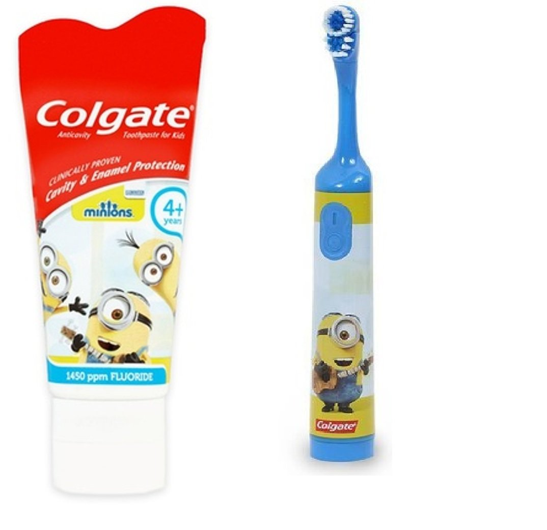 Colgate Children's Powered Toothbrush and Toothpaste (Minions ~ Blue)