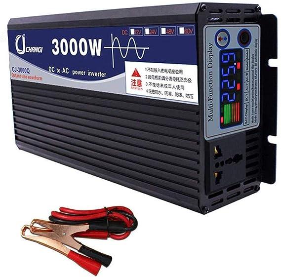 WGE Inversor De Onda Sinusoidal Pura DC 12V / 24V / 48V ...