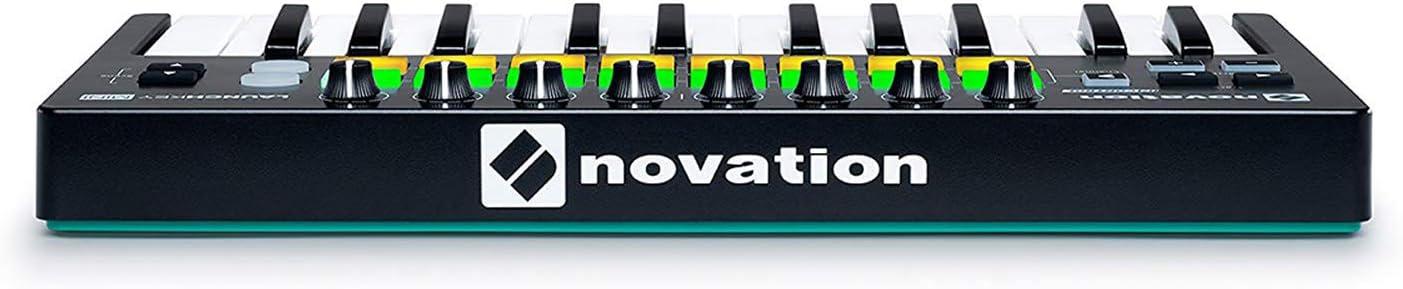 Novation Launchkey Mini 25-Mini-Key USB Keyboard Controller For Ableton Live bundled with FL Studio 20 Producer Edition Download Card