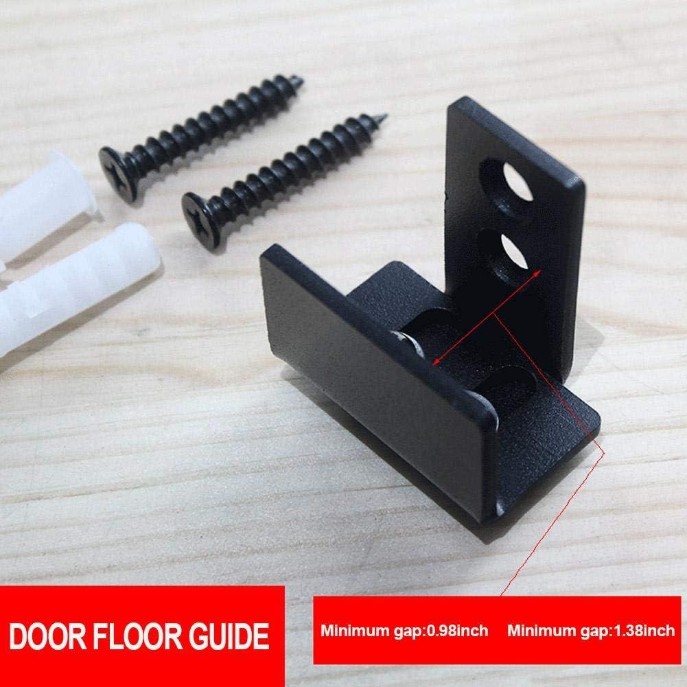 Einfache Installation Schwarz CCJH Flexibel Einstellbar Wandhalterung Schiebet/ür Bodenf/ührung