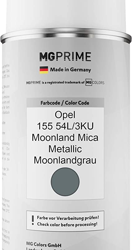 Mg Prime Autolack Sprühdosen Set Für Opel 155 54l 3ku Moonland Mica Metallic Moonlandgrau Basislack Klarlack Spraydose 400ml Auto