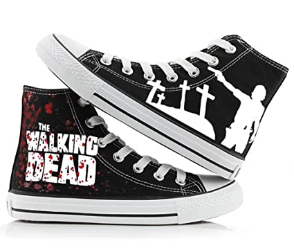 b727aefdc216 Amazon.com  The Walking Dead Shoes Canvas Shoes Sneakers 2 Styles  Sports    Outdoors