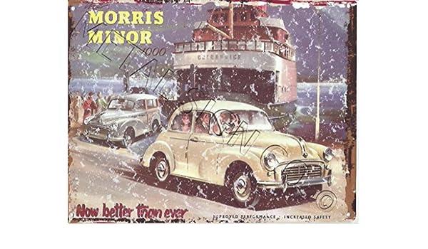 Morris Minor 1000 anuncio Metal Sign Retro Vintage estilo 8 ...
