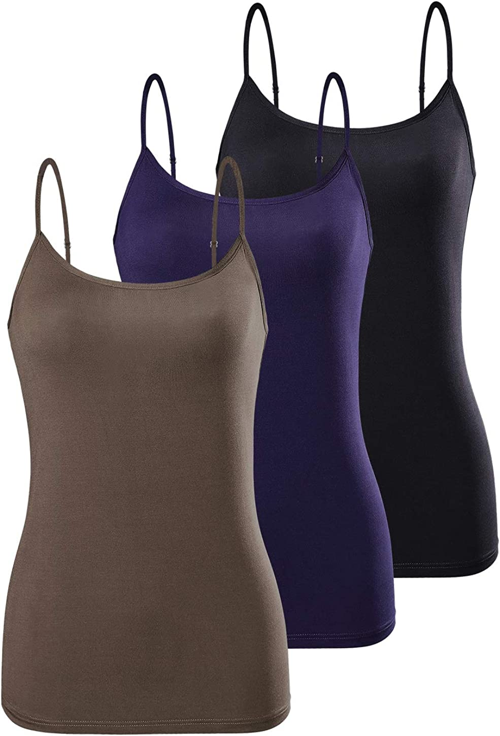AMVELOP Adjustable Womens Camisole Spaghetti Strap Tank Top Camis