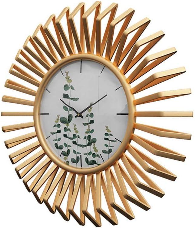 壁掛け時計 20 ``素晴らしい家の装飾金壁時計非ダニ品質クォーツ壁時計キッチン、リビングルーム、寝室、浴室、寝室、オフィス サイレント ウォールクロック (Color : Gold, Size : 20'')