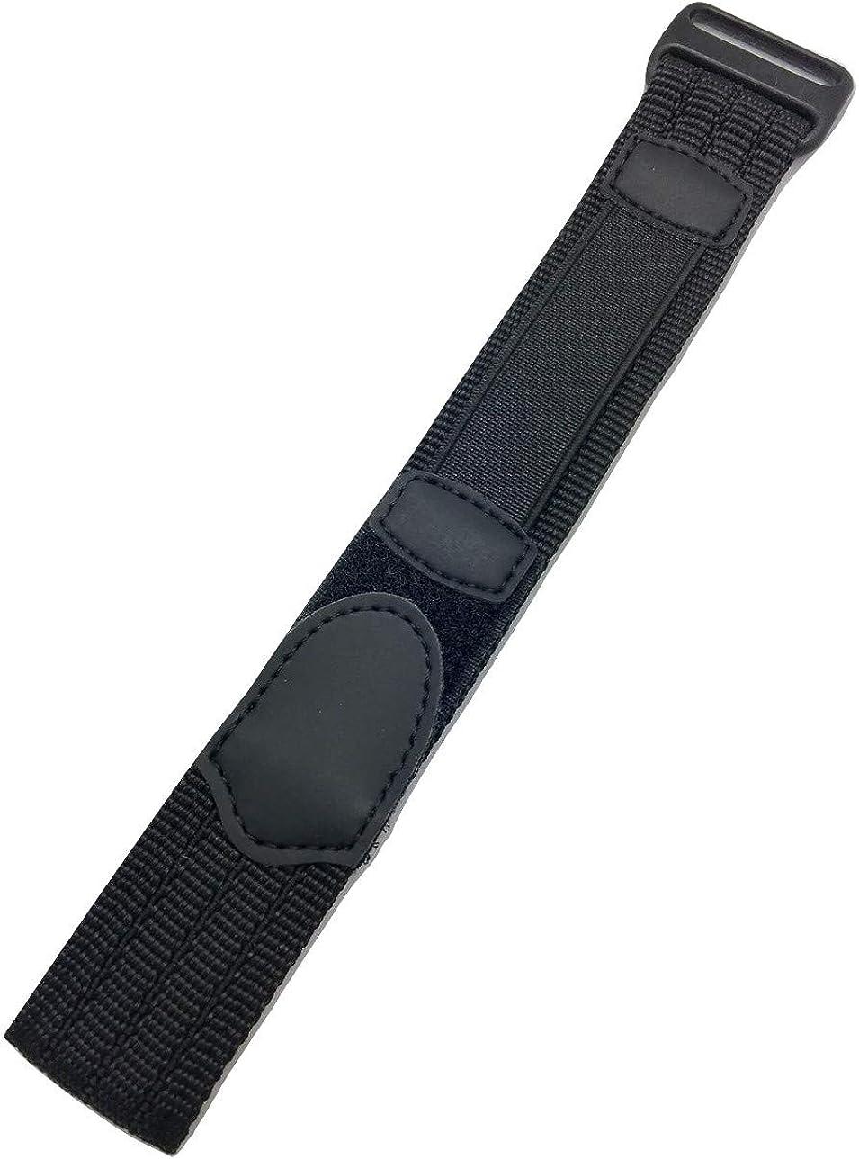 18-20mm Adjustable-Length, Black, Nylon Sport Watch Strap