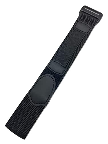 1a08f1532 18-20mm Adjustable-Length, Black, Nylon Sport Watch Strap   Amazon.com