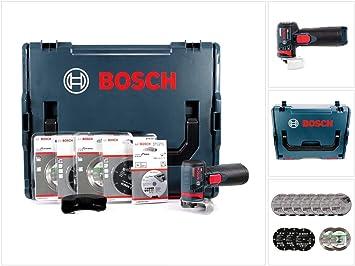 1 Bosch Akku-Winkelschleifer GWS 12V-76 Solo ohne Akku ohne Lader in L-BOXX Gr