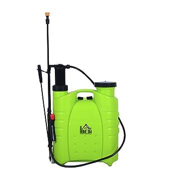 Amazon.com : HomCom 4 Gallon Manual Hand-Pumped Backpack Sprayer ...