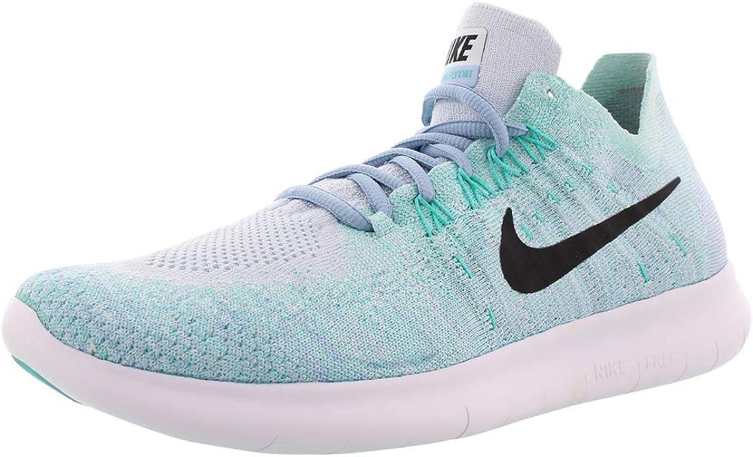 Nike Womens Free RN Flyknit 2017 Running Shoe BLUE TINT BLACK-CIRRUS BLUE-AURORA GREEN 8.5