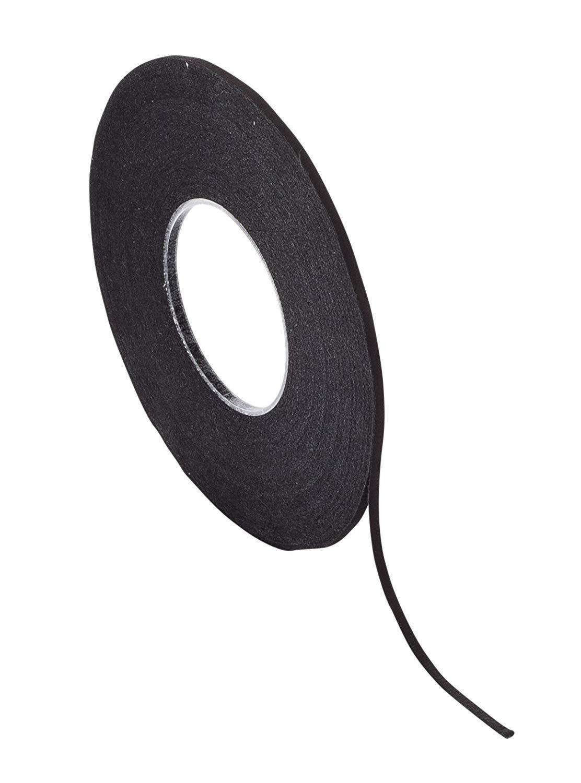 Chartpak Graphic Art Tape, Black Crepe Finish, 1/8'' x 648'' (BGCP6201) - Pack of 3 Rolls