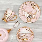Cristina Re Teacup & Saucer Quartz Pink/Gold