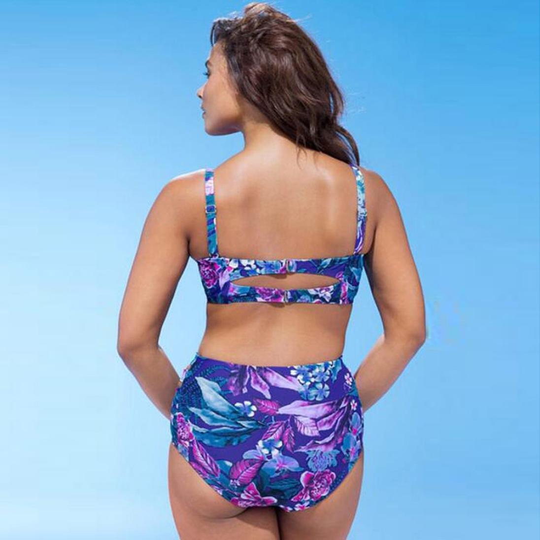 b4c1bf4e654 Amazon.com  Inverlee Plus Size Womens Swimming Push up Padded Swimsuit  Monokini Swimwear Bikini Bathing Suit  Clothing