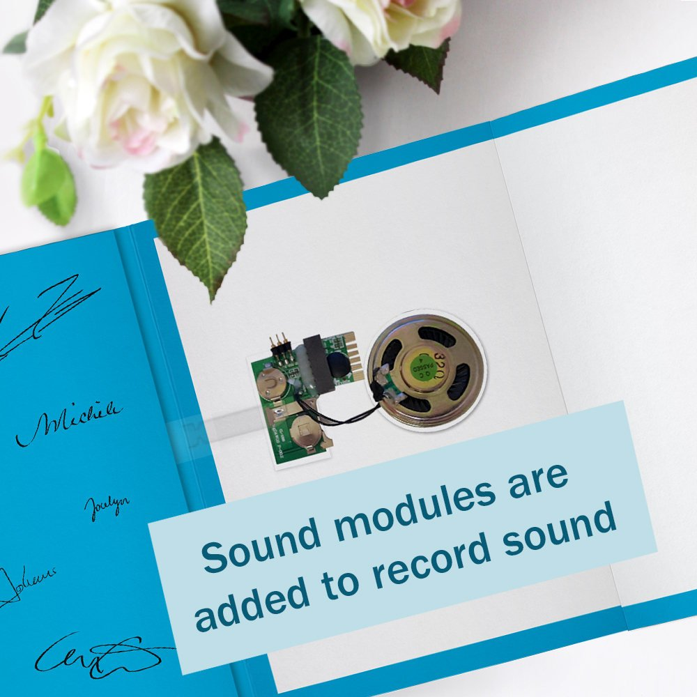 120s CARD 6x6 (BLACK) RECORDABLE chip sound music voice talking musical greeting