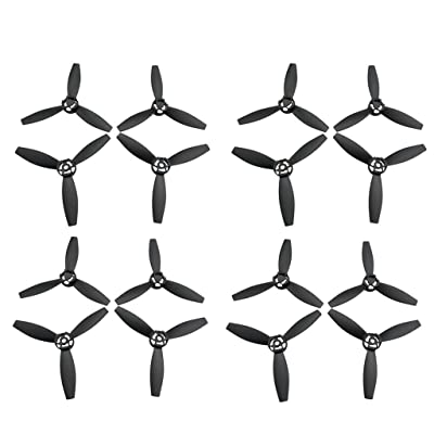 sea jump Accessories 16PCS Propeller for Parrot Bebop 2 Power FPV Four-Axis Aircraft Spare Parts Model Aircraft Drone Blade Black: Toys & Games