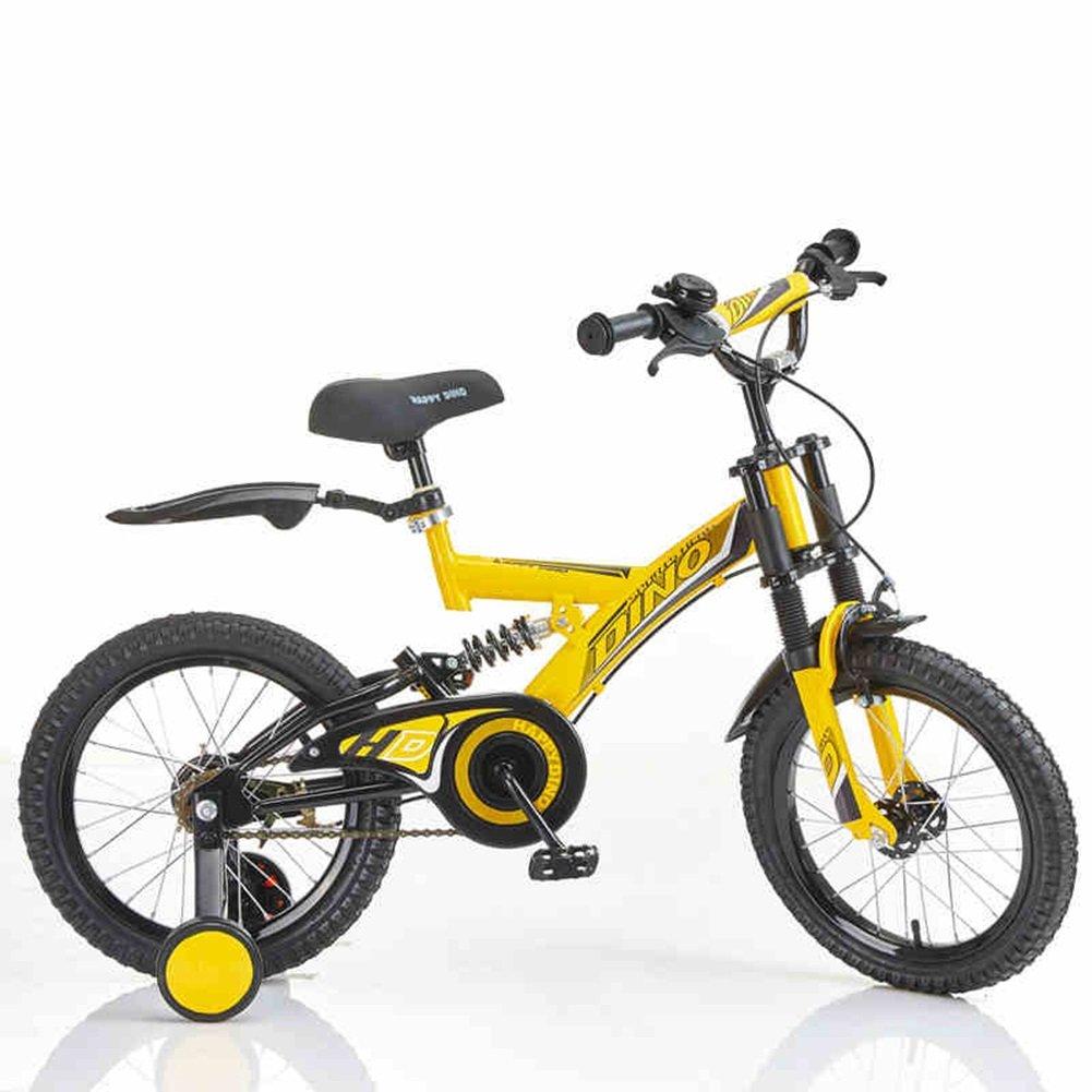 XQ 子供の自転車の男の子3-6歳の赤ちゃんのキャリッジ14インチ16インチの自転車の自転車二重衝撃吸収 子ども用自転車 ( 色 : イエロー いえろ゜ , サイズ さいず : 14-inch ) B07CKPXNYRイエロー いえろ゜ 14-inch
