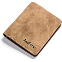 2-Pack Badiya Retro Nubuck Leather Thin Wallet Card Holder