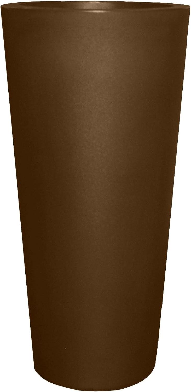 Tusco Products CTR20ES Cosmopolitan Round Garden Planter, Espresso