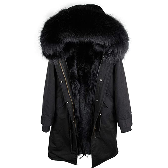 Amazon.com: Real Fur Parka - Chaqueta de invierno con ...