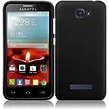 Fierce 2 7040T, Pop Icon A564C Case - Wydan (TM) Rubberized 2-Piece Snap On Hard Case Cover For Alcatel One Touch Fierce 2 7040T - Black