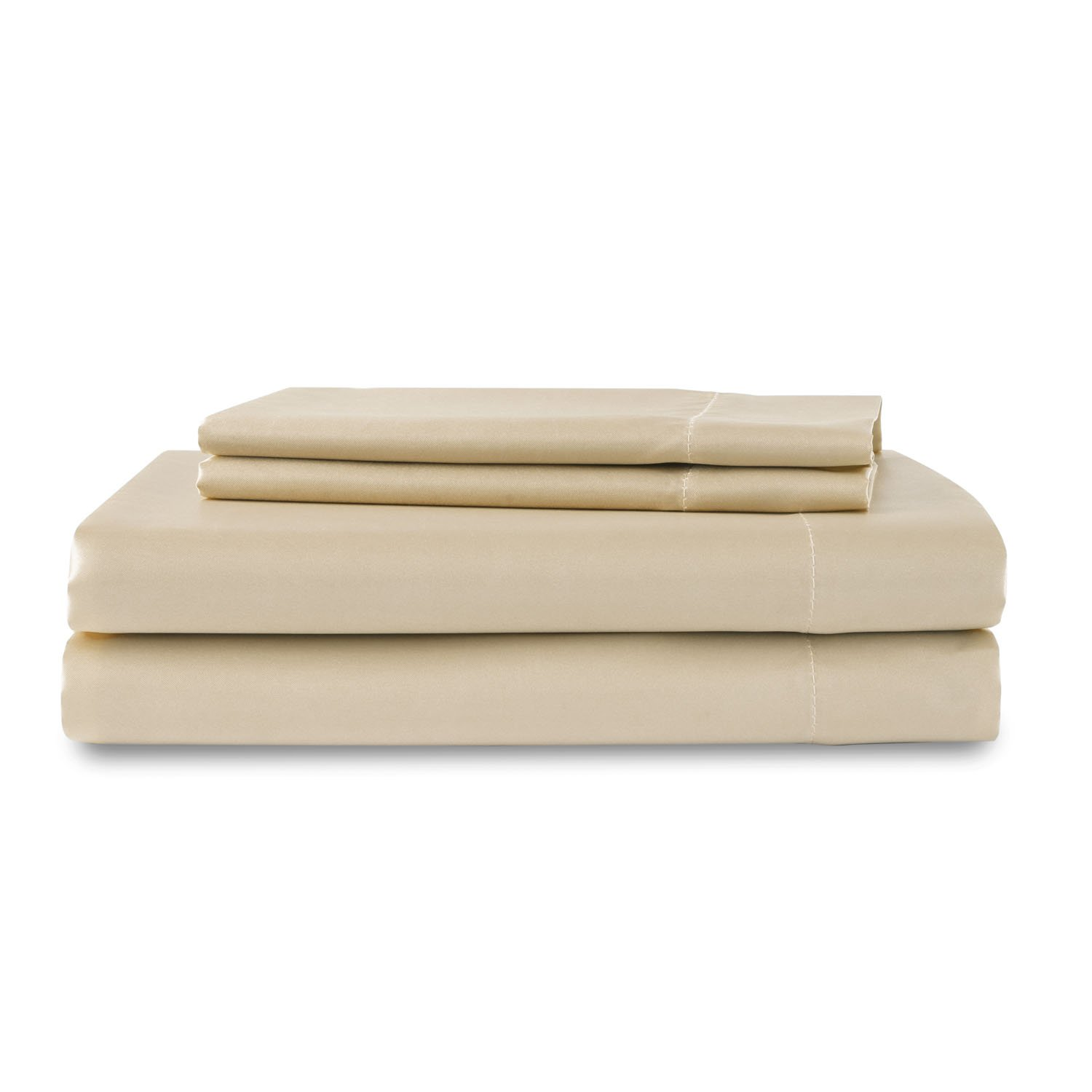 Sweet Dreams Silky Satin Flat Sheet - Twin, Ivory, Wrinkle Free and Stain Resistant Super Soft Luxury Satin Bed Sheets