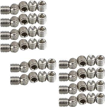 XunLiu 316 Stainless Steel Internal Hex Socket Cup Point Grub Screw 50, M6X12