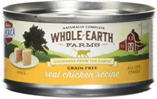 product image for Whole Earth Farms 295242 Grain Free Real Chicken Recipe Pâté Canned Cat Food, One Size