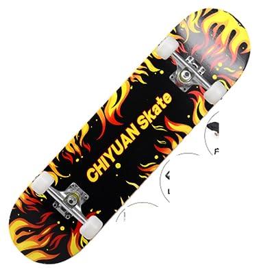 Black prend en charge quatre roues skateboard/Skateboard route de transport/Skateboarder professionnel pour les adultes/ basée sur la brosse rue planche à roulettes