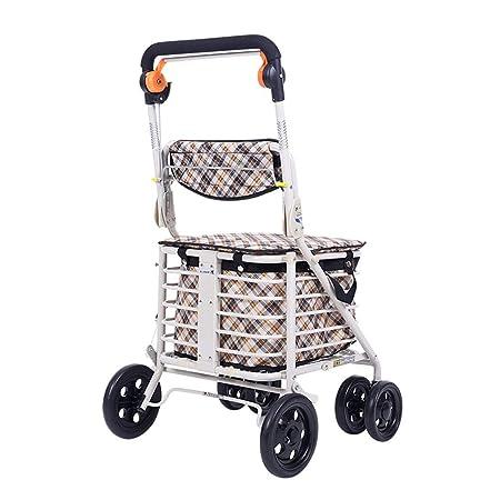 Carro de compras para ancianos con canasta de almacenamiento ...