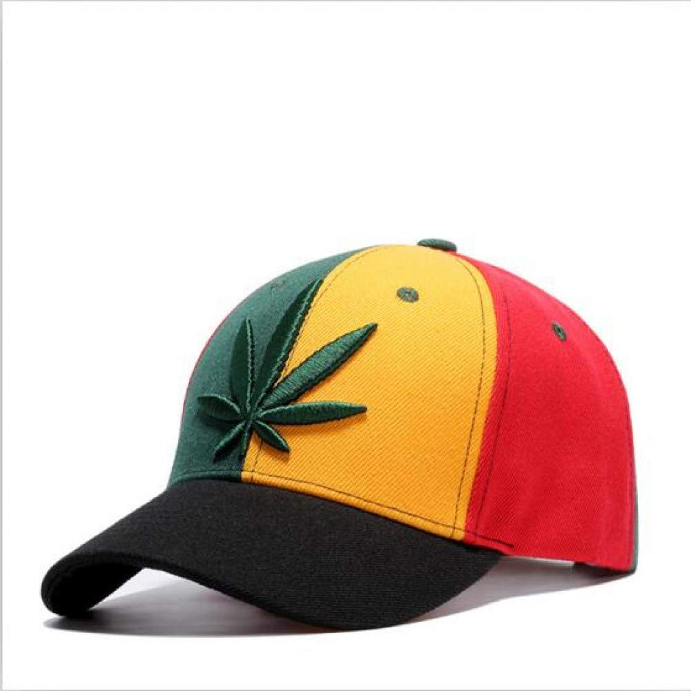 Red and orange 55 TO 60 CM Outdoor Sports hat Baseball Cap Fashion Embroidery Maple Cap Weed Hats for Men Women Cotton Swag Hip Hop Fitted Baseball Caps GrljdHat