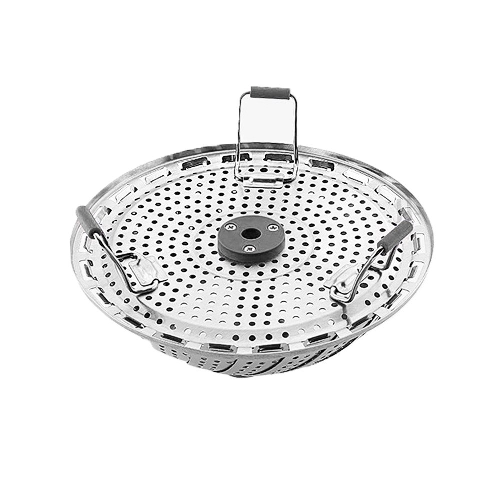 Stainless Steel Steamer Basket, Alotpower Folding Steamer Basket for Vegetable Fish Seafood with Extendable Handle For Instant pot Pressure Cooker to Fit Various Size Pot (7\