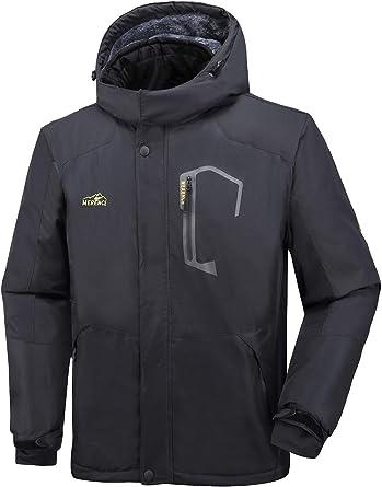 monta/ña camping resistente al viento con capucha impermeable Chaqueta de nieve para hombre senderismo
