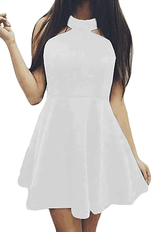outlet Mujer Sin Mangas Mini Vestidos Club Cóctel Partido Vestido de Bola  Elegante Moda Para Fiesta ca4e10a77da