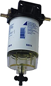"""CARMOCAR Water Separating Fuel Filter System for outboard Motors (3/8"""" NPT, Composite)"""