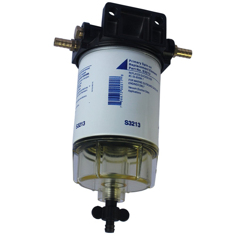 CARMOCAR Water Separating Fuel Filter System for outboard Motors (3/8'' NPT, Composite)